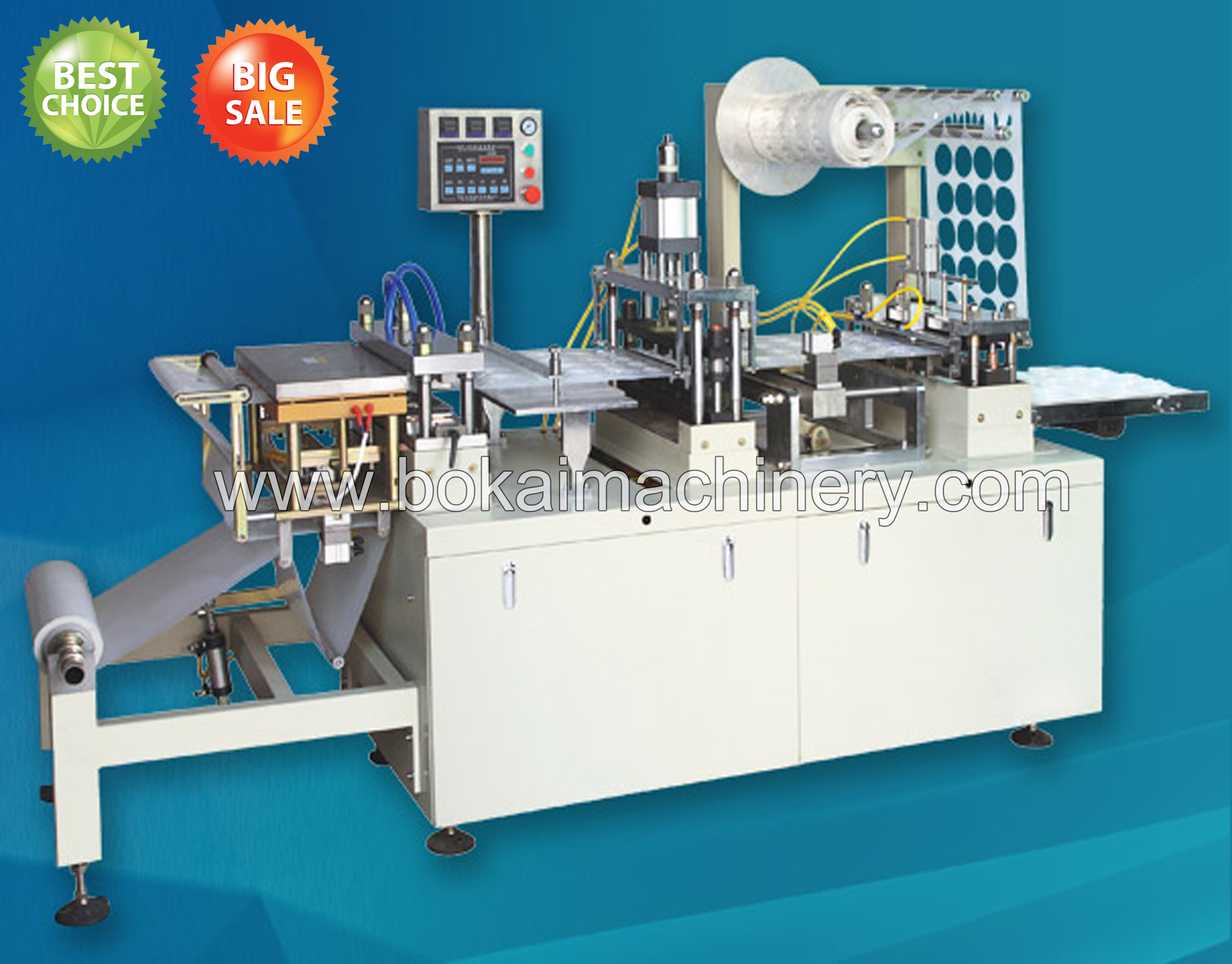DP-420F Plastic Lid Thermoforming Machine